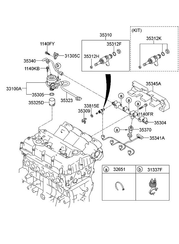 2012 Kia Sportage Throttle Body & Injector - Kia Parts Now