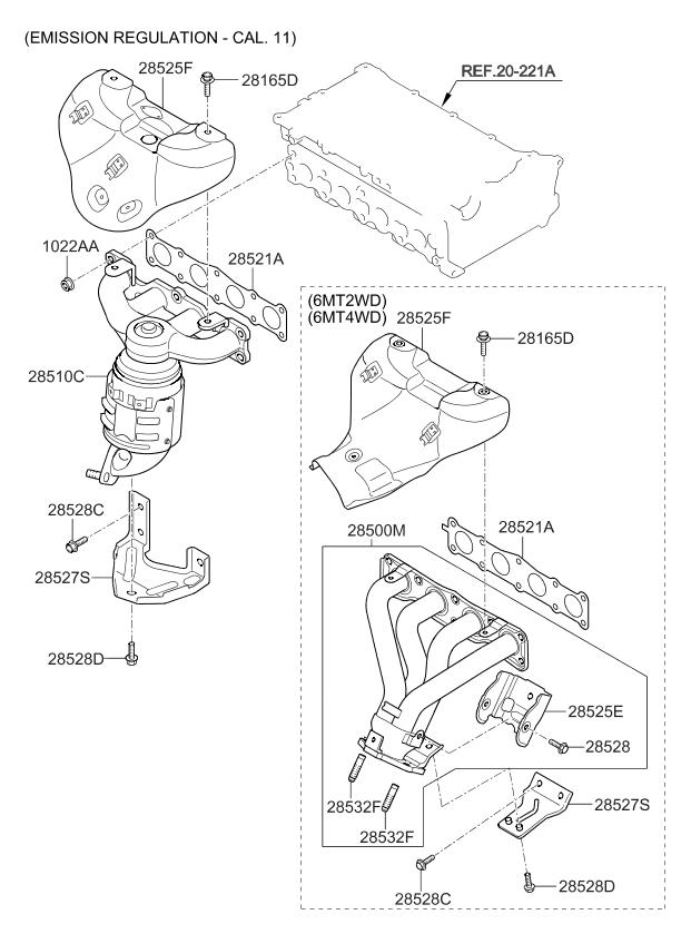 2013 Kium Sorento Engine Diagram