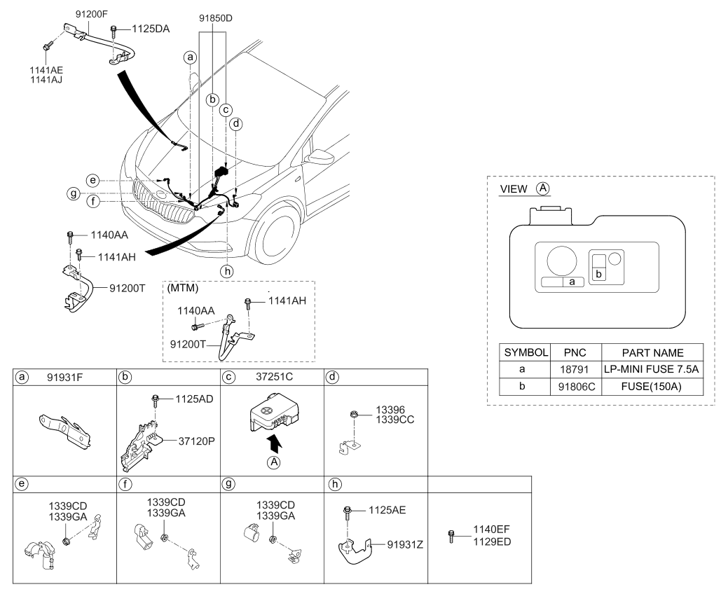 91850a7570 genuine kia wiring assembly battery rh kiapartsnow com kia forte radio wiring diagram 2016 kia forte radio wiring diagram