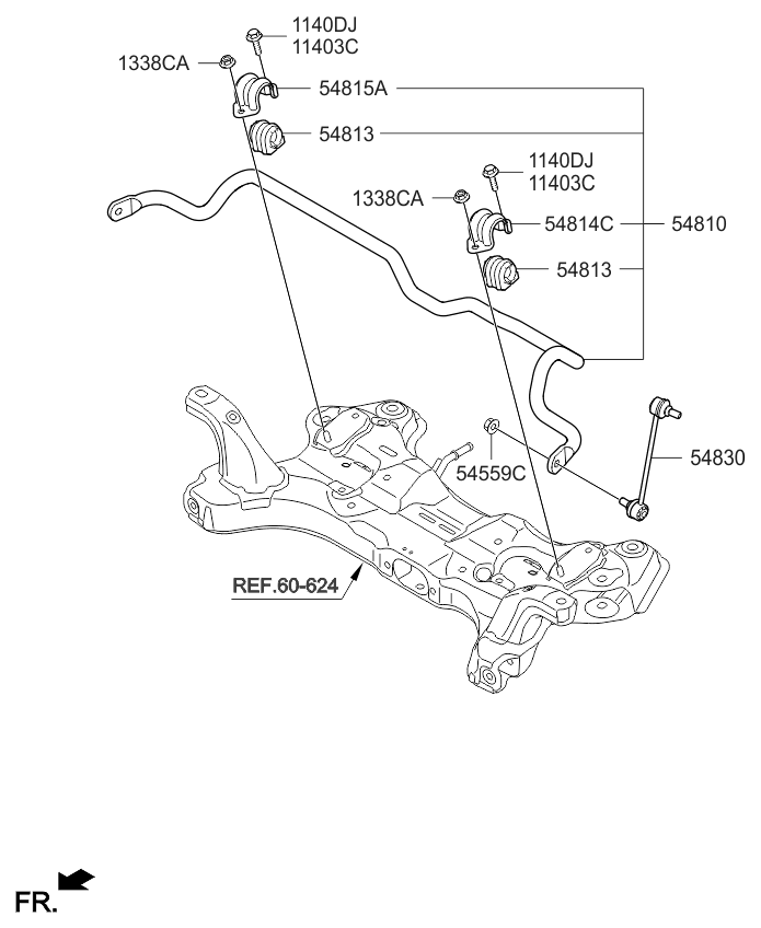 Excellent 54810A7000 Genuine Kia Bar Assembly Front Stabilizer Wiring Database Cominyuccorg