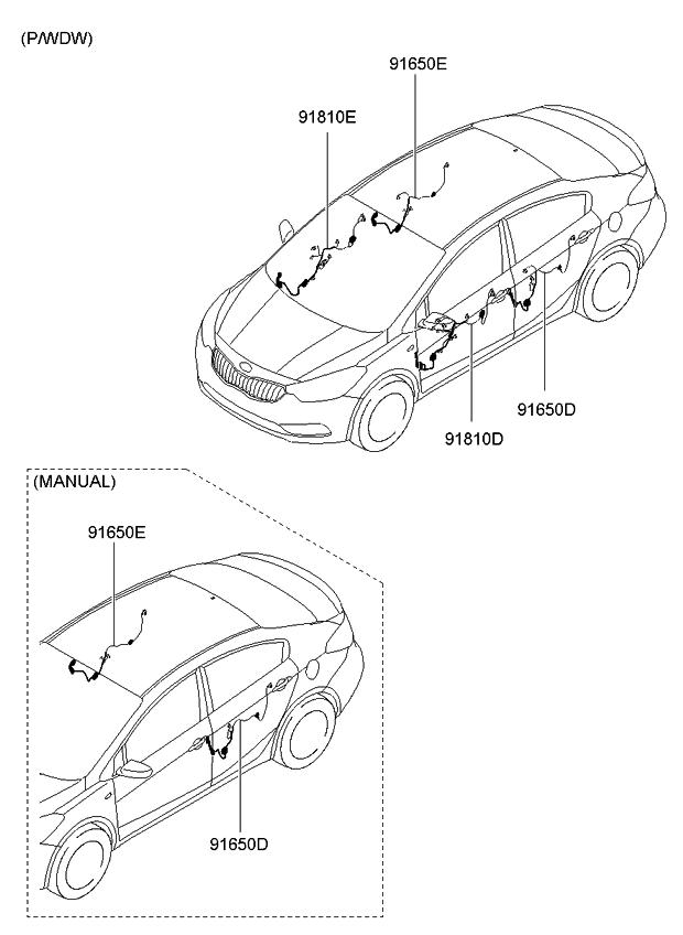 2015 Kia Forte Koup Door Wiring - Kia Parts Now