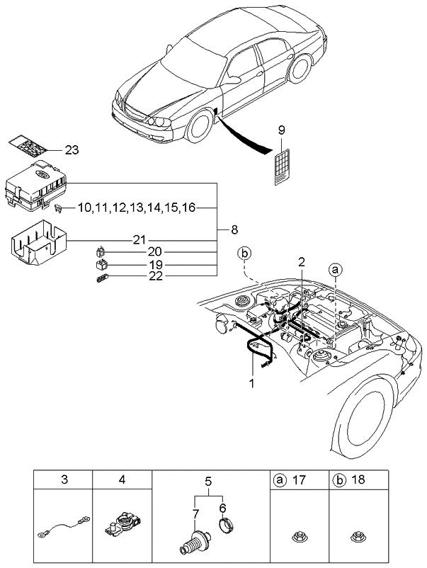2003 kia spectra hatchback engine transmission wiring harnesses rh kiapartsnow com 2008 kia spectra wiring harness 2003 kia spectra wiring harness