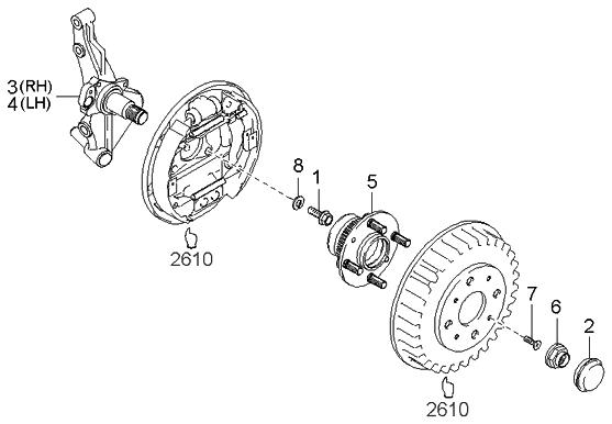 2003 Kia Spectra Rear Brake Diagram - Atkinsjewelry