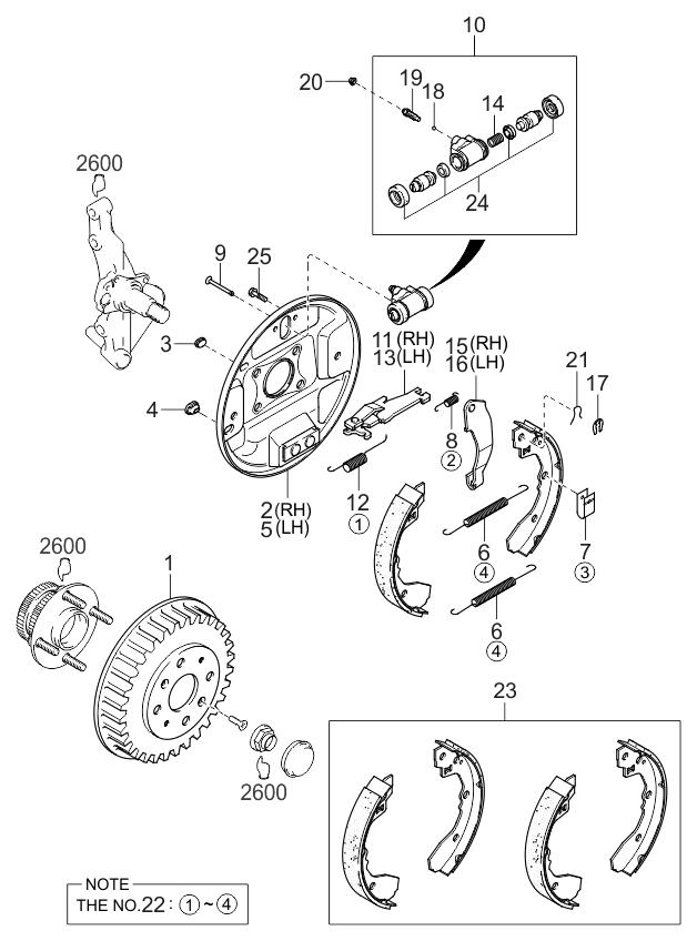 Kia Spectra Rear Brake Diagram Engine Diagram And Wiring