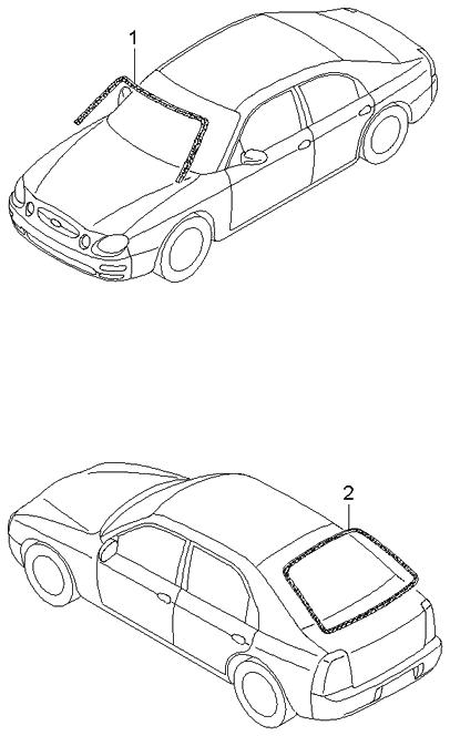 2003 kia spectra hatchback window moulding