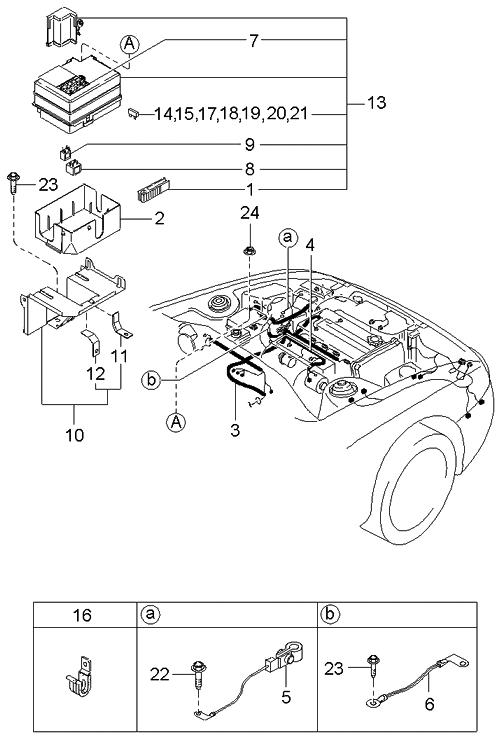 2003 kia spectra hatchback engine transmission wiring harnesses rh kiapartsnow com 2003 Kia Spectra Parts 2003 Kia Spectra Parts