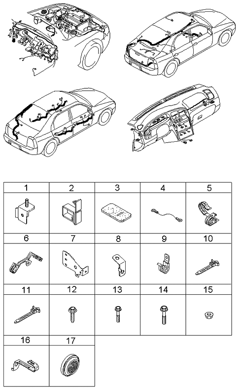 2004 Kia Spectra Hatchback (Old Style) Wiring Harnesses ...  Kia Spectra Wiring Diagram Tail on