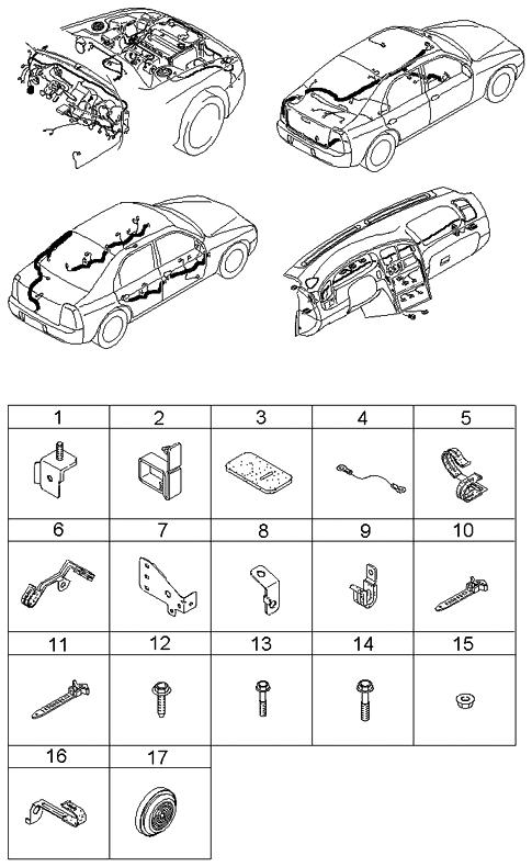 2002 kia spectra hatchback (old body style) wiring harnesses clamps 2002 Mustang GT 2002 kia spectra hatchback (old body style) wiring harnesses clamps thumbnail 1