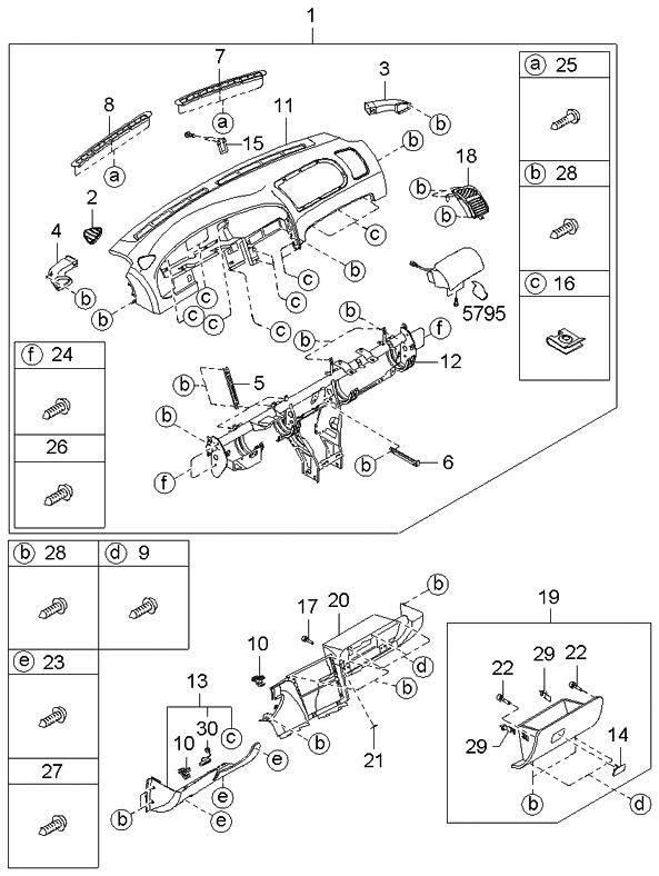 2000 Kia Sephia Engine Diagram