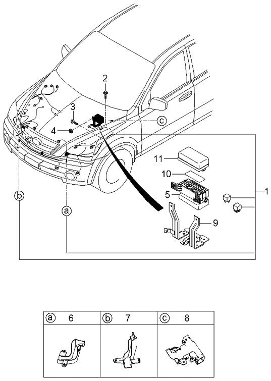 2006 kia engine diagram  6 speakers 4 channel amp wiring