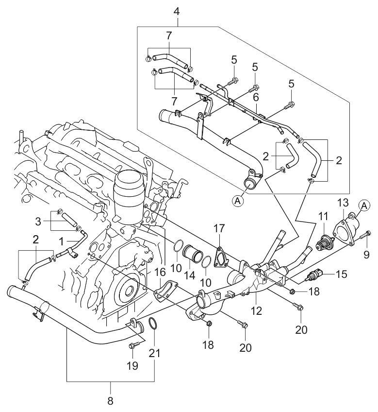 Incredible 254703C500 Genuine Kia Pipe Hose Assembly Inner Wiring Cloud Oideiuggs Outletorg