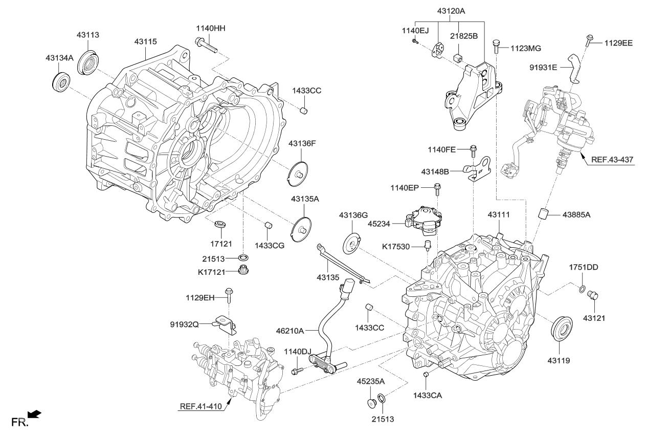 2017 Kia Optima Transaxle Case Manual Parts Now Diagram