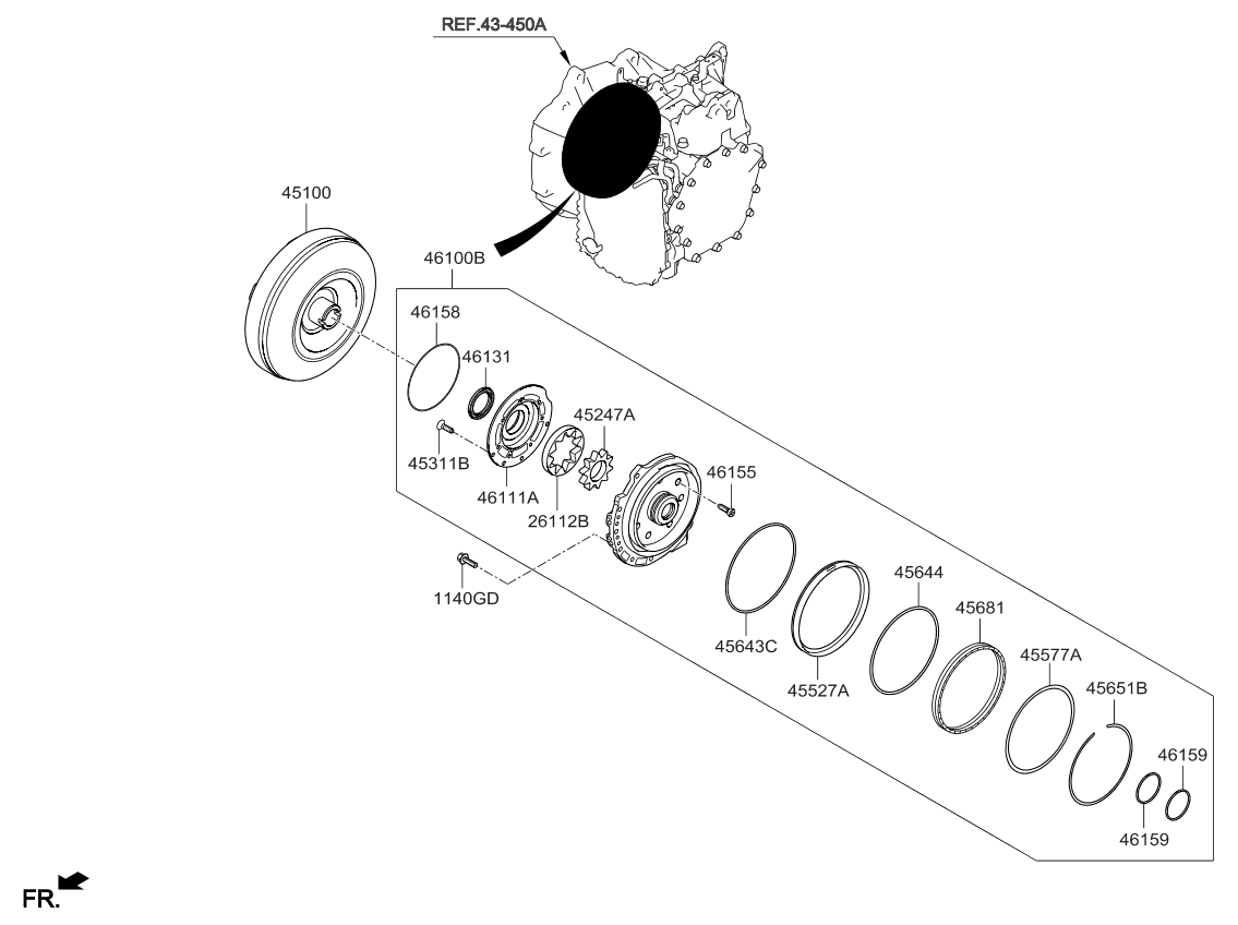 Transmission And Torque Converter Hydraulic System Diagram