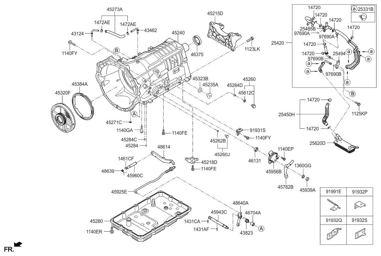 2018 Kia K900 auto-transmission-case