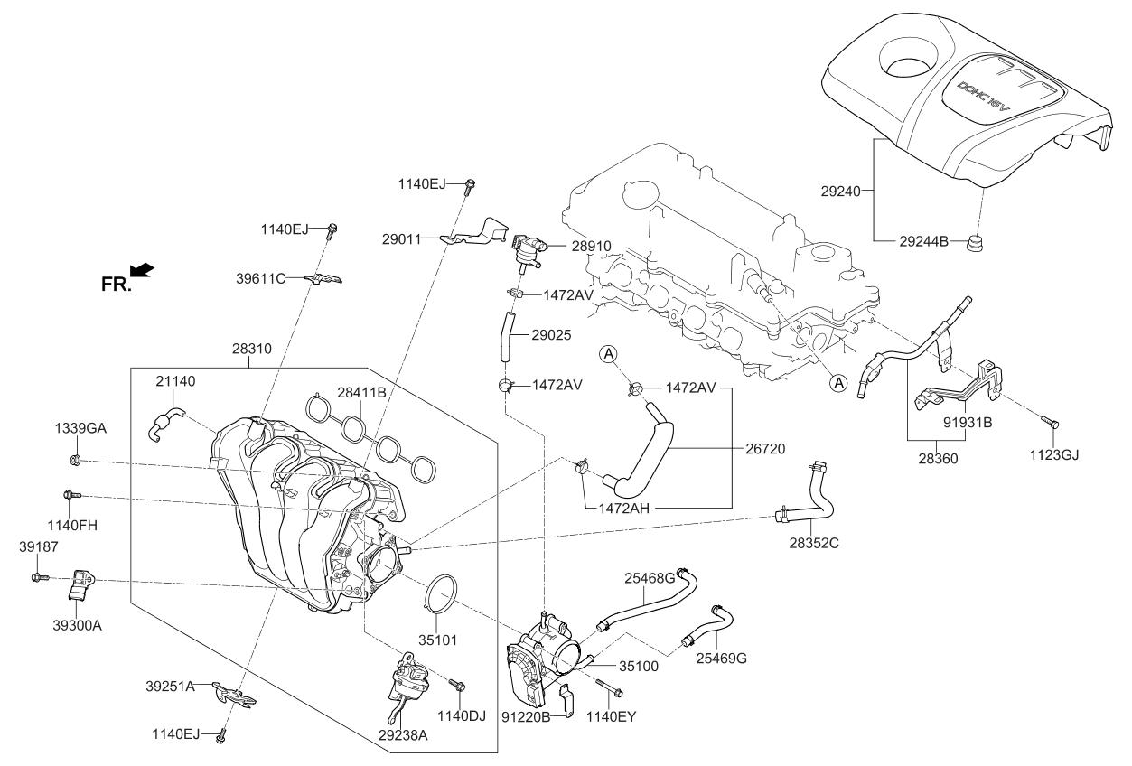 283222b670 Genuine Kia Actuator Visor Fuel Pump Diagram 2018 Rio Intake Manifold