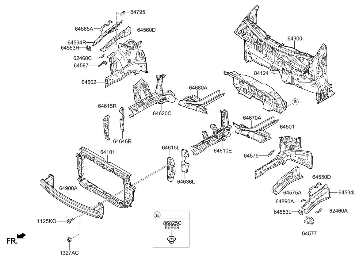 2018 kia rio fender-apron-radiator-support-panel