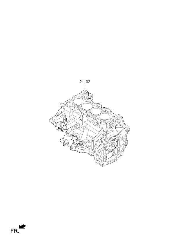 2018 Kia Rio Short Engine Assy