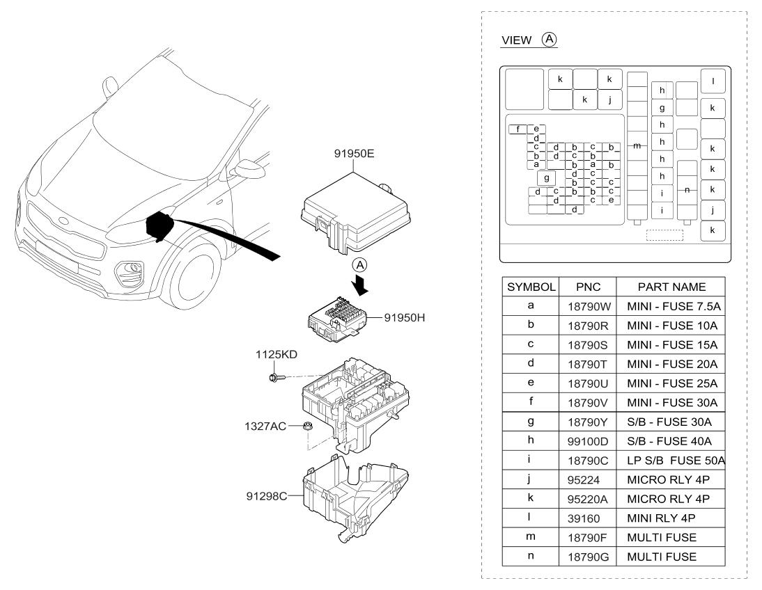 1898009600 genuine kia multi fuse. Black Bedroom Furniture Sets. Home Design Ideas