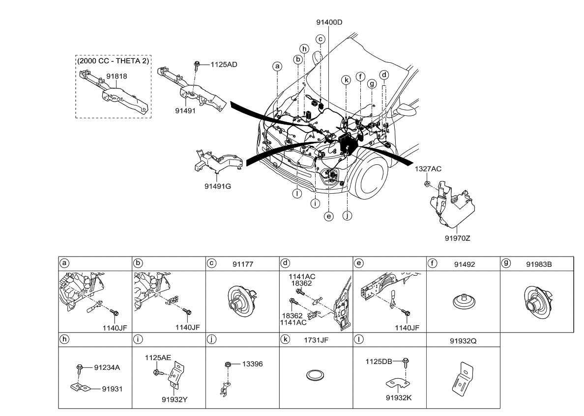 91460d9020 genuine kia wiring assembly control. Black Bedroom Furniture Sets. Home Design Ideas