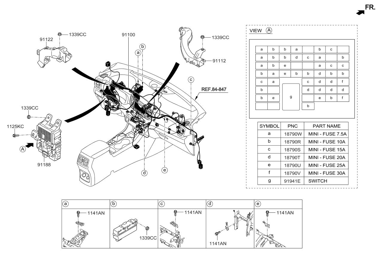 91103d9080 genuine kia wiring assembly main. Black Bedroom Furniture Sets. Home Design Ideas