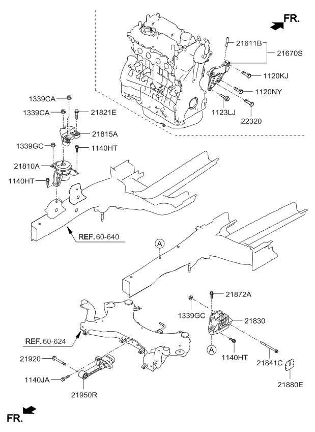 21825D9050 - Genuine Kia BRACKET-ENGINE MOUNTING SUPPORT