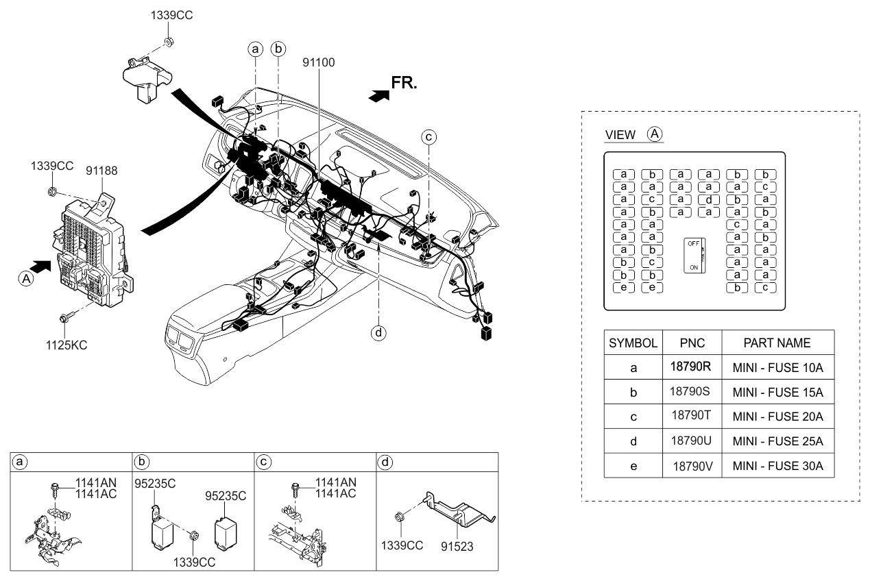 2015 Kia K900 main-wiring