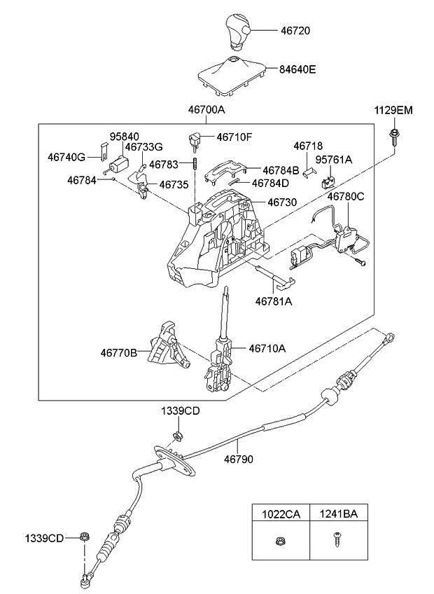 2014 Kia Optima Korean made Shift Lever Control(ATA)