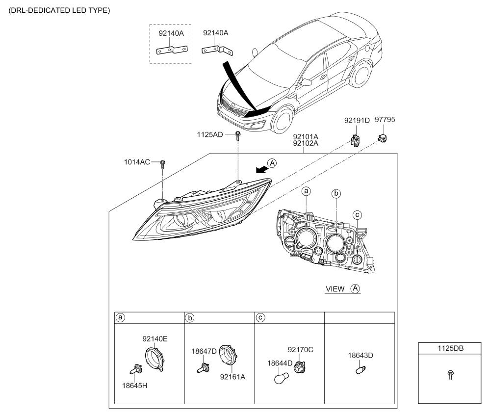 2015 kia optima korean made headlamp kia parts now Kia Optima Stereo Diagram