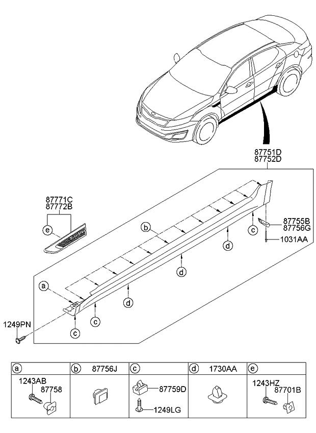 2015 Kia Optima Korean made Body Side Moulding - Kia Parts Now