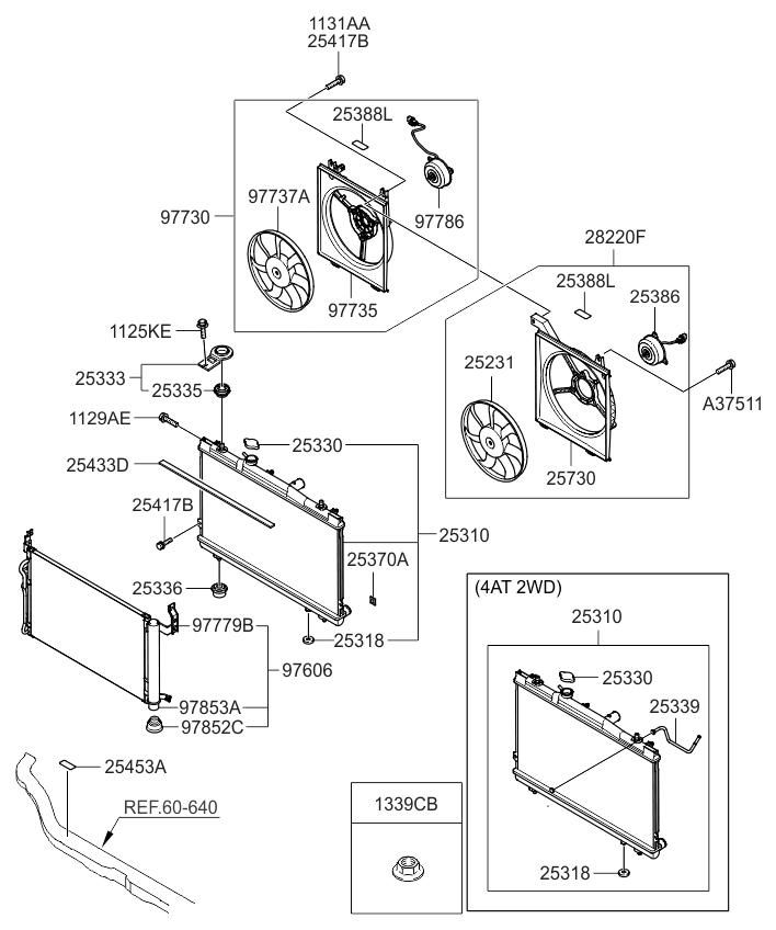 253102f000 Genuine Kia Radiator Assembly