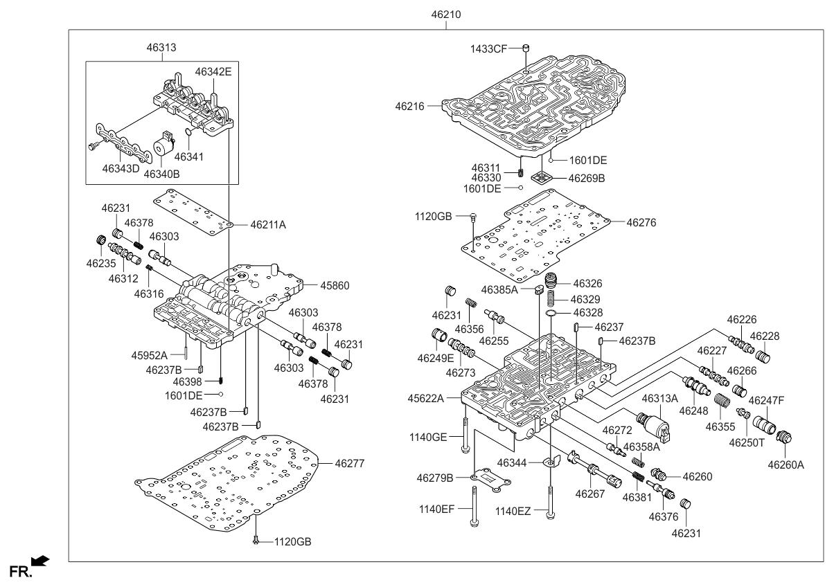 2007 Kia Spectra Transmission Valve Body - Thumbnail 1