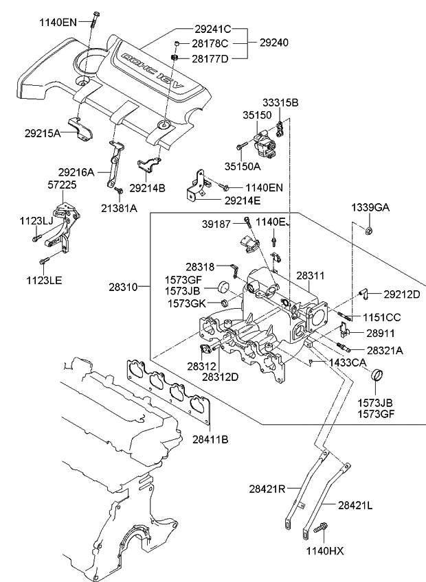 2009 Kia Spectra Engine Diagram