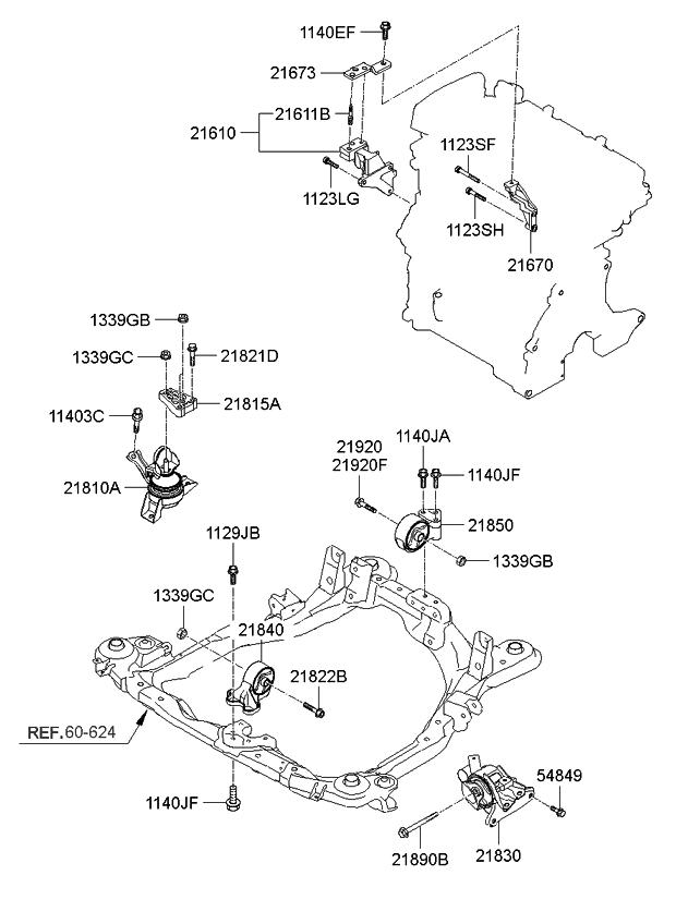 2009 Kia Spectra Engine  U0026 Transaxle Mounting