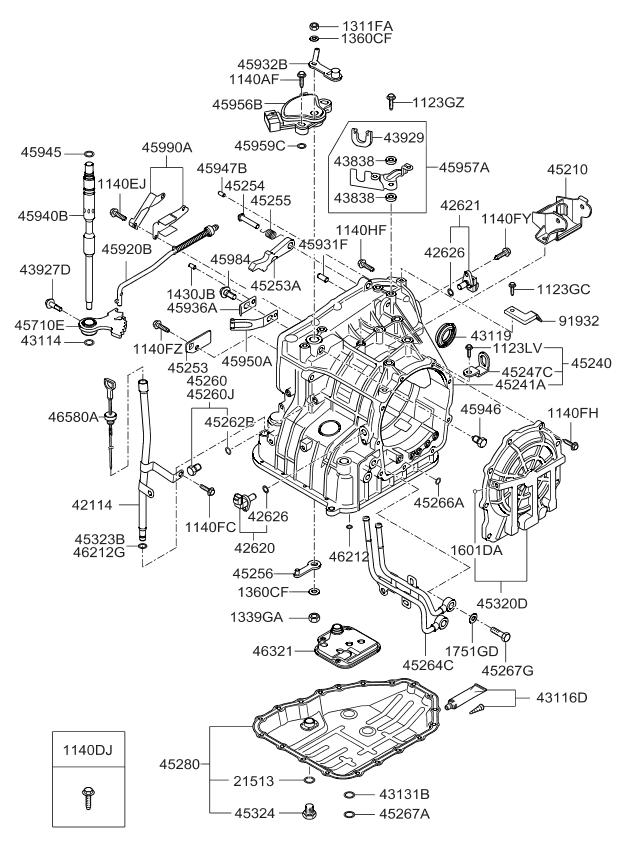 2003 kia spectra transmission filter