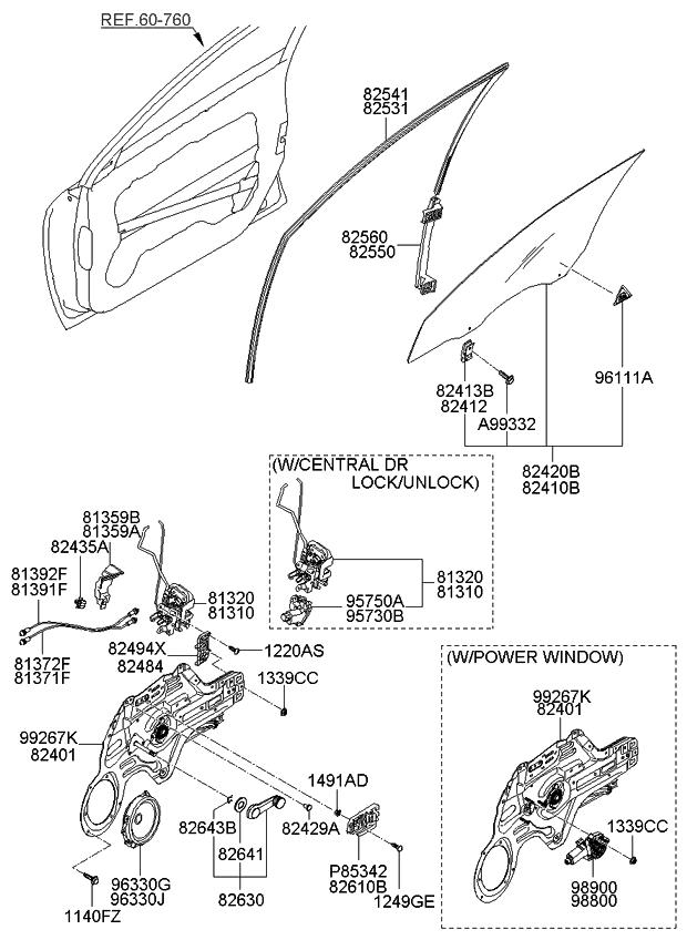 813722f000 genuine kia cable assembly front door inside for 2008 kia spectra interior door handle