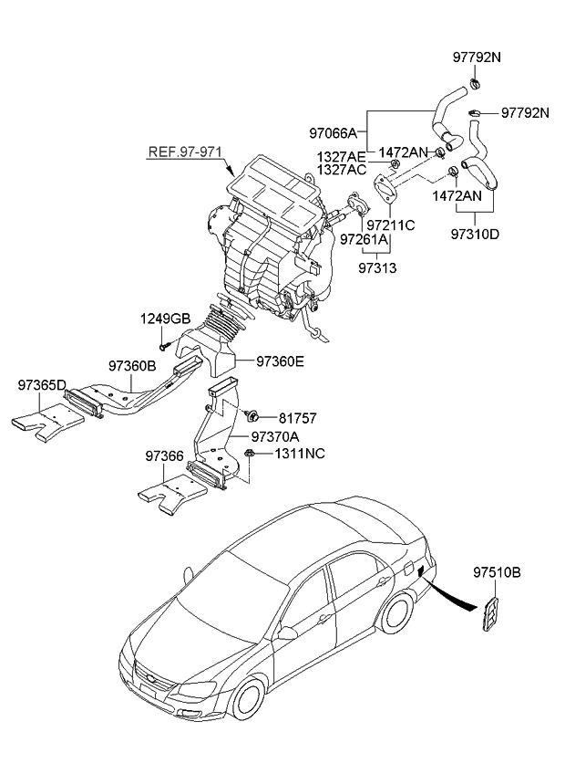 2008    Kia       Spectra    Heater SystemDuct   Hose     Kia    Parts Now