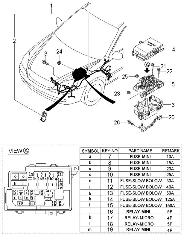 912002g730 genuine kia wiring assembly front. Black Bedroom Furniture Sets. Home Design Ideas