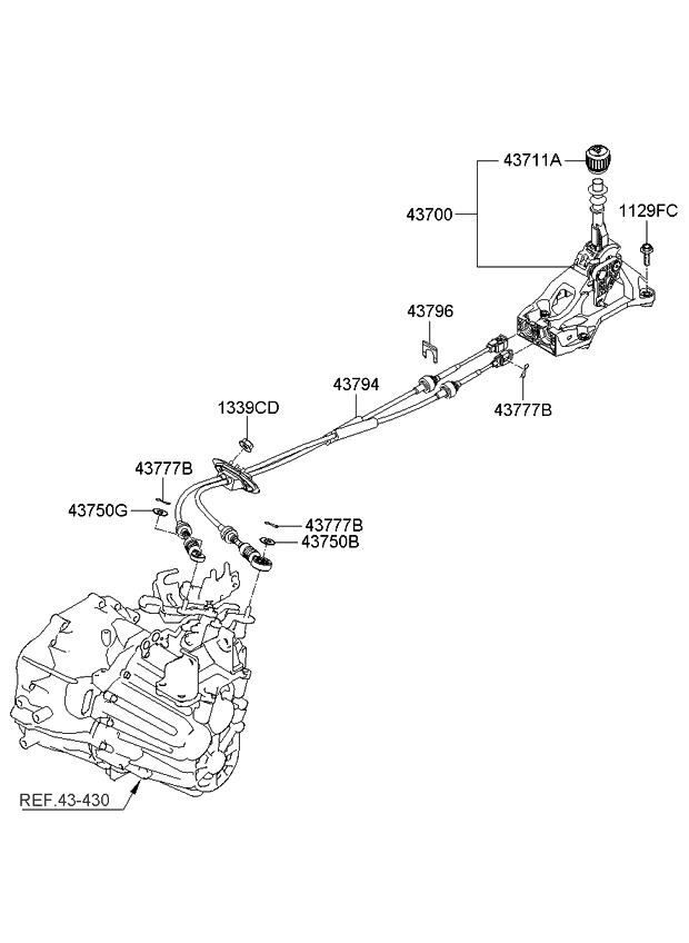 2008 Kia Optima Old Body Style Shift Lever Control(MTA)