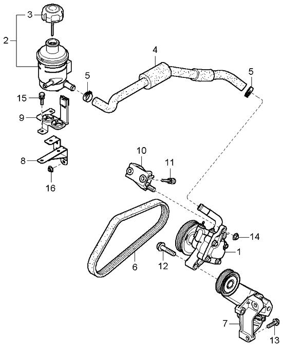 2004 Kia Amanti Transmission: 2004 Kia Amanti Power Steering Oil Pump