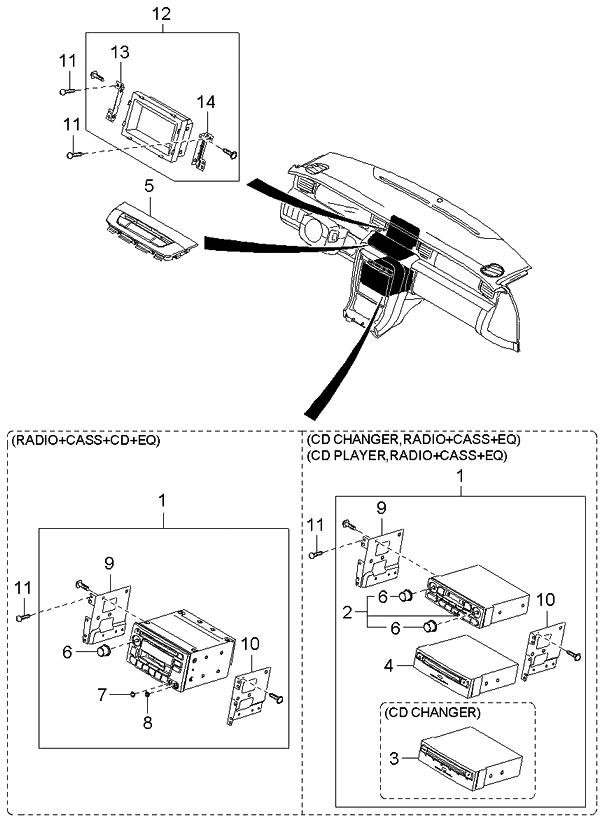2005 Kia Amanti Audio - Kia Parts Now Kia Amanti Wiring Diagram on