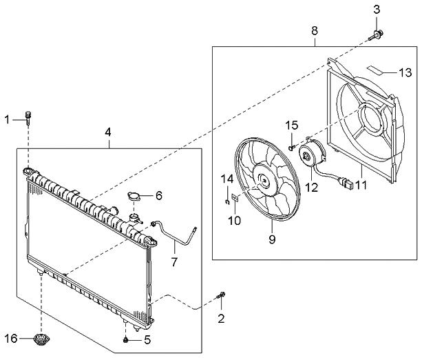 253103f000 genuine kia radiator assembly. Black Bedroom Furniture Sets. Home Design Ideas