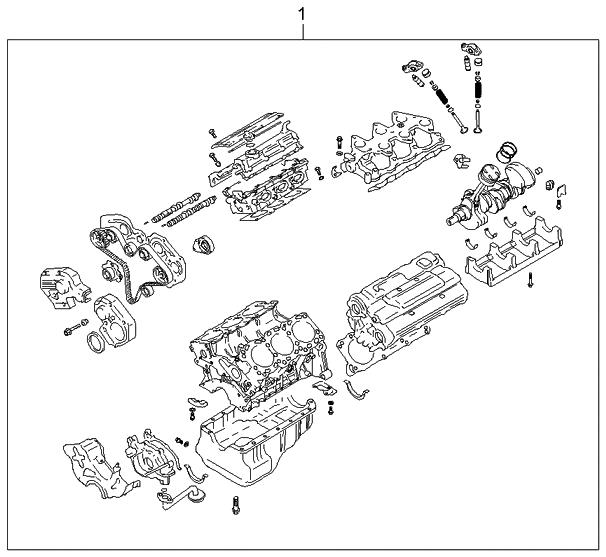 2004 Kia Amanti Transmission: 2004 Kia Amanti Sub Engine Assy