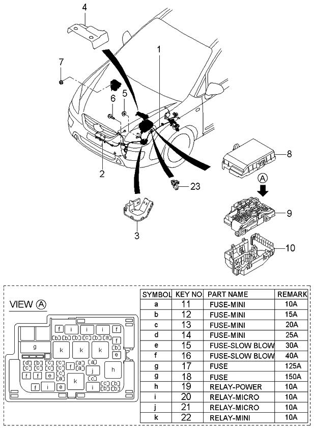 912001d180 genuine kia wiring assembly front. Black Bedroom Furniture Sets. Home Design Ideas