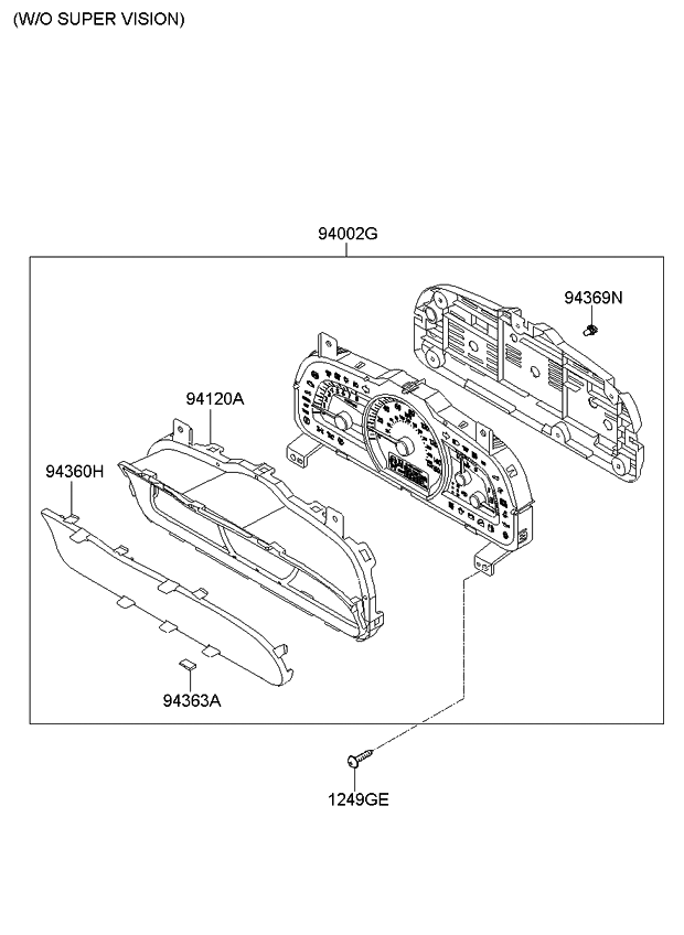 2009 kia borrego instrument cluster kia parts now 2009 Toyota Venza Wiring Diagram 2009 kia borrego instrument cluster thumbnail 1