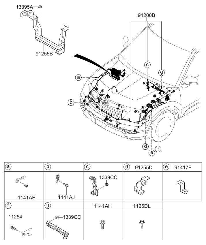2011 kia borrego engine-wiring