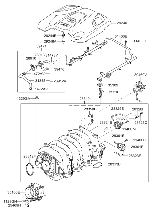 2891026900 genuine kia valve purge control. Black Bedroom Furniture Sets. Home Design Ideas
