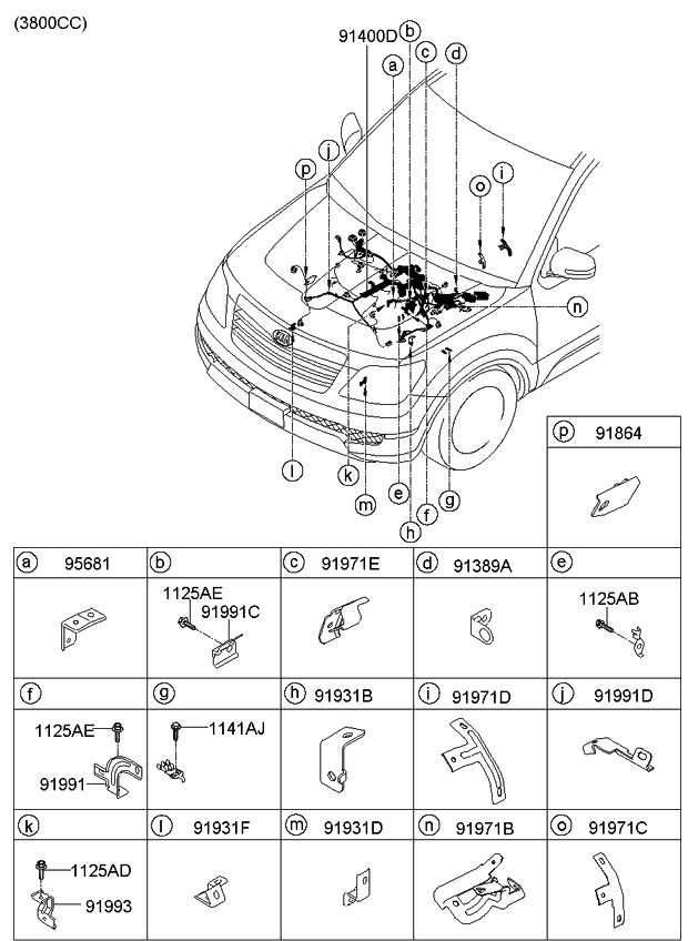 2011 kia borrego control-wiring