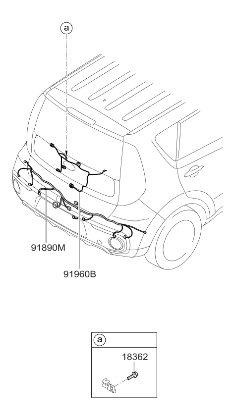 2017 kia soul miscellaneous wiring kia parts now  at Kia Soul Rear Wiring Harness For License Plate