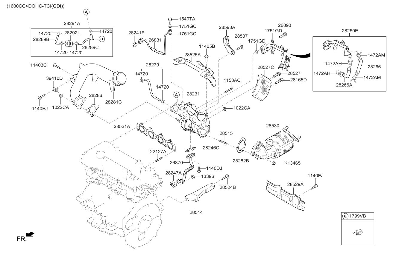 2017 kia soul exhaust manifold kia parts now rh kiapartsnow com 2000 Kia Sportage Engine Diagram Kia 2.0 Engine Diagram