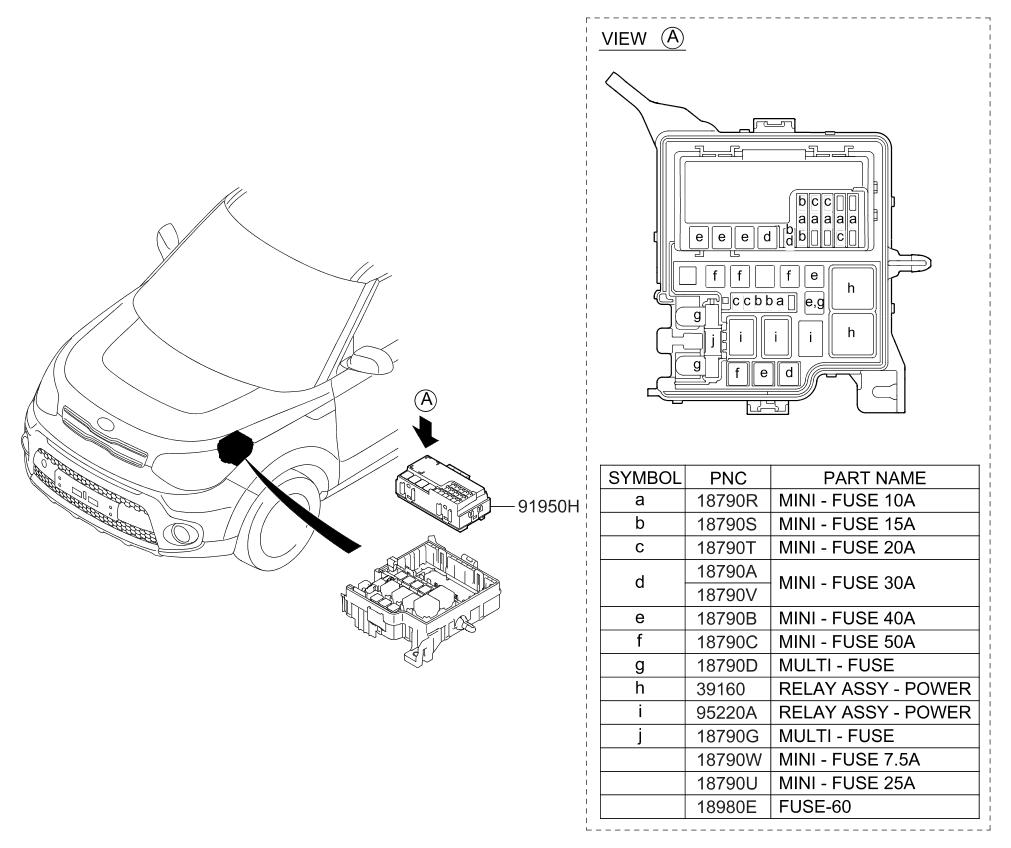91950b2350 genuine kia pcb block assembly. Black Bedroom Furniture Sets. Home Design Ideas